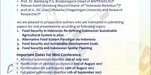 Call for paper for Indonesian Scientific Seminar 2017!