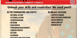 OPEN RECRUITMENT GELOMBANG 1 : CALL FOR INITIATIVES