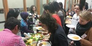 PPI Wageningen mempromosikan tumpeng di Food Law Winterschool