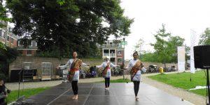 Persembahan Angklung dan Tari Lampung di Global Village Wageningen